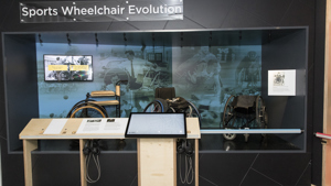 Wheelchair display at the National Paralympic Heritage Centre