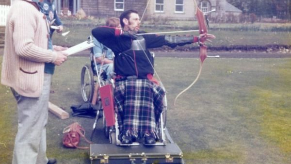 George Brogan, Archer, at the games in Blair Castle 1965
