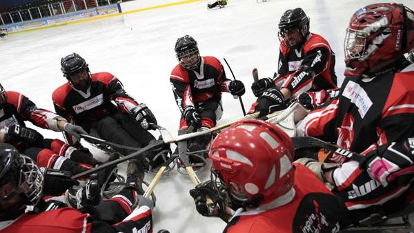 Photo of the Peterborough Phantoms Para Sledge Hockey Club