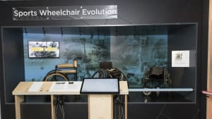 The Sports Wheelchair Evolution display at the National Paralympic Heritage Centre