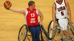 Paralympian wheelchair basketball player, Peter Finbow